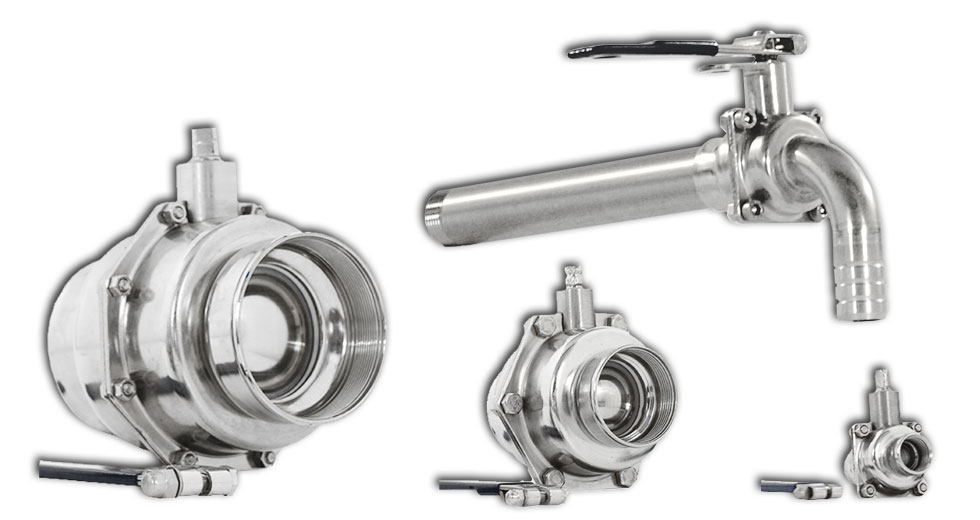 Ball valves Standard: working temperature up to + 100° C. The Fluxinos HB Inox taps are a product aiming to solve the problem of leaking, unreliable or inadequate taps which are so widespread in developing countries.